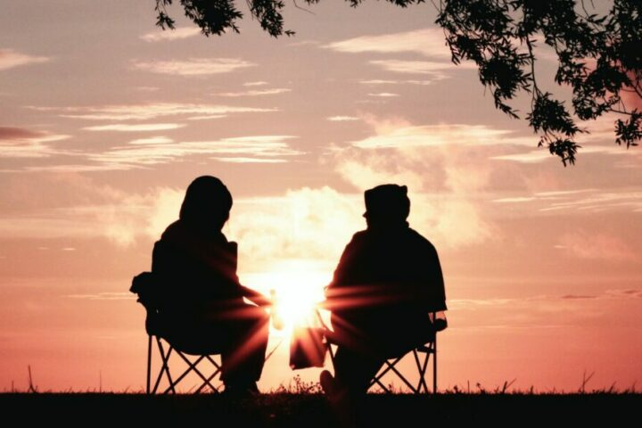 Gespräch im Freien